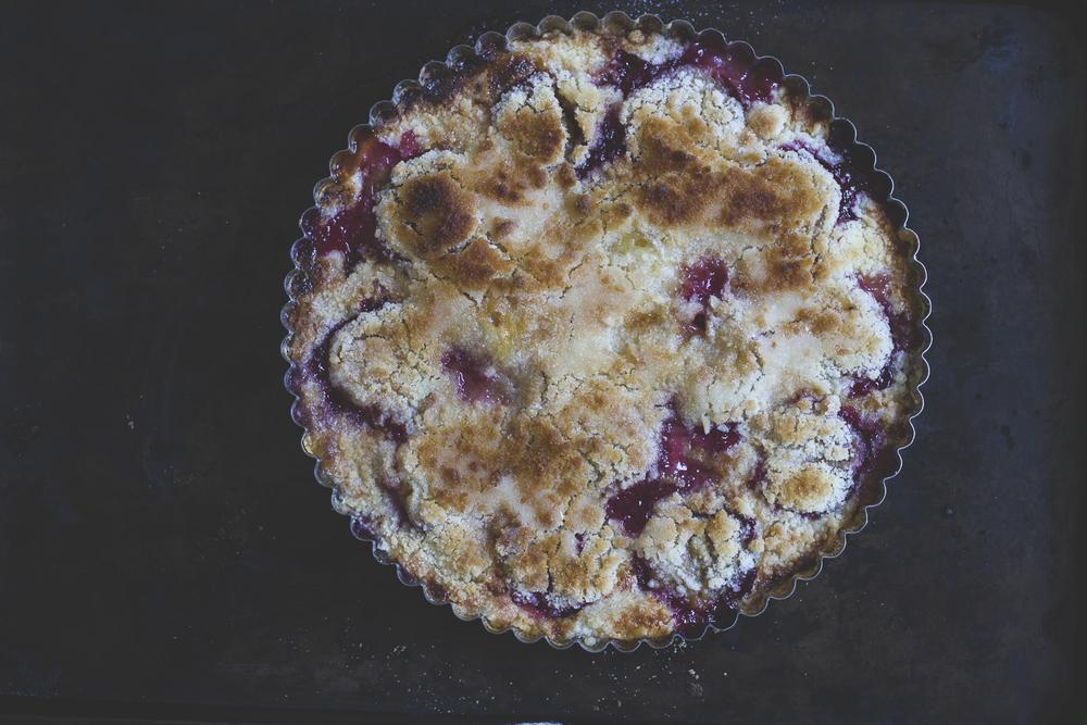 Plum Custard Crumble Tart © 2014 Helena McMurdo
