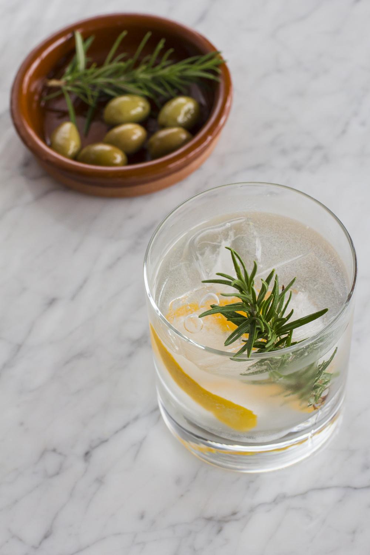 Rosemary and Orange Zest Gin Tonic © 2014 Helena McMurdo