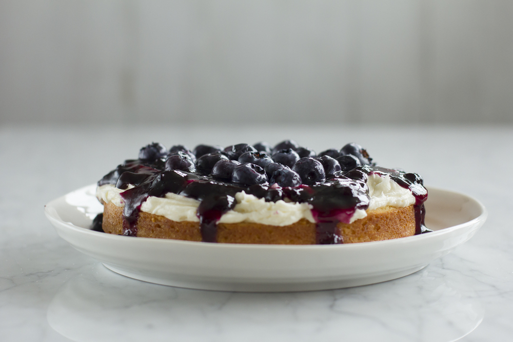Blueberry Victoria Sponge Birthday Cake © 2014 Helena McMurdo