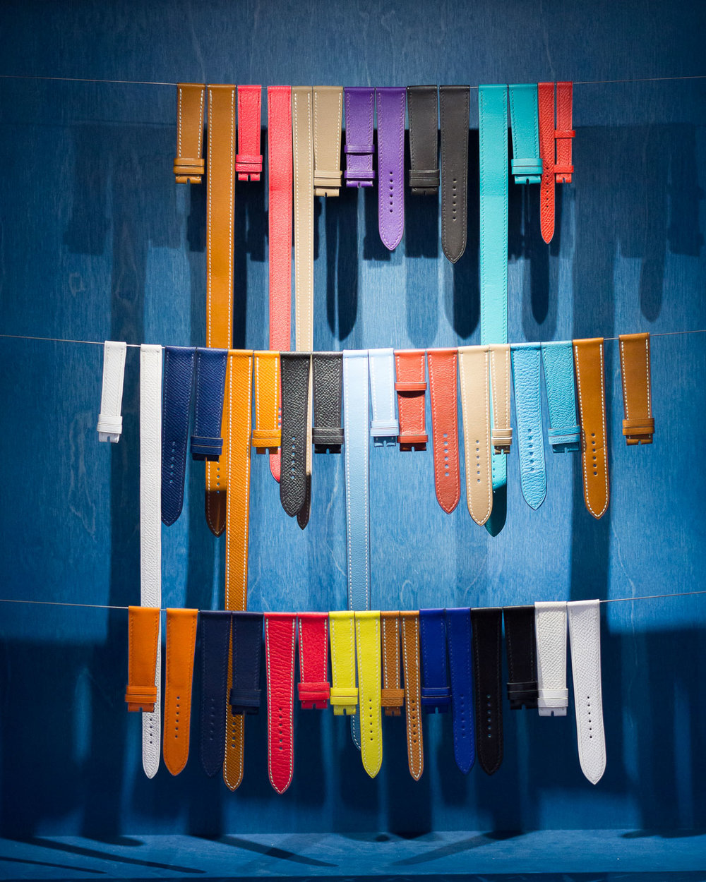Colourful watch straps by Hermès Photo: Helena McMurdo
