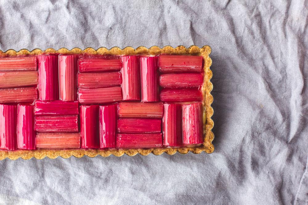 Checkered Rhubarb Tart