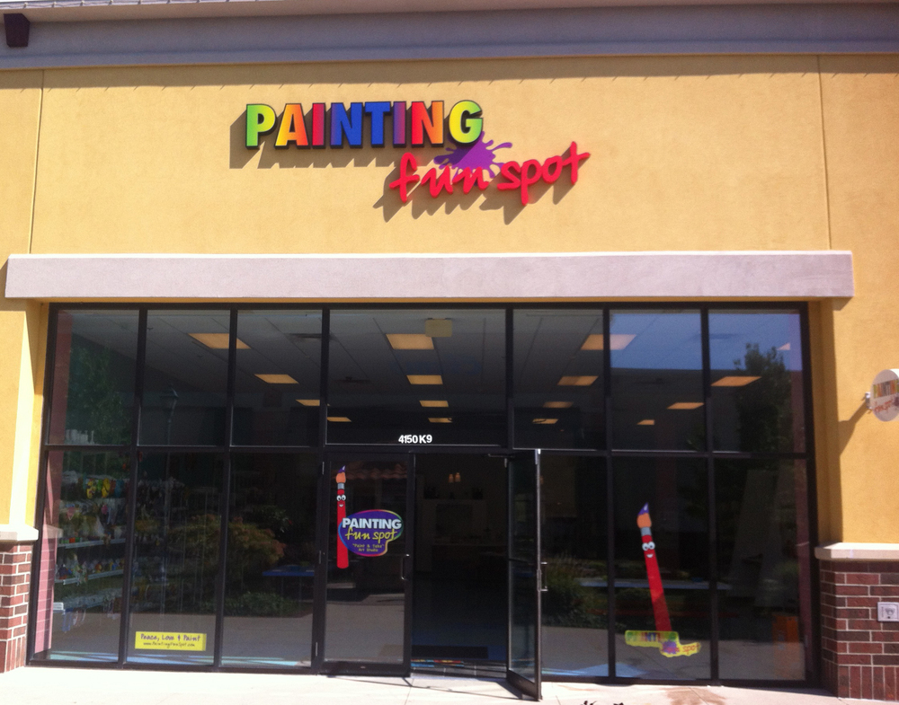Painting Fun Spot is at Jefferson Pointe next to Barnes & Noble