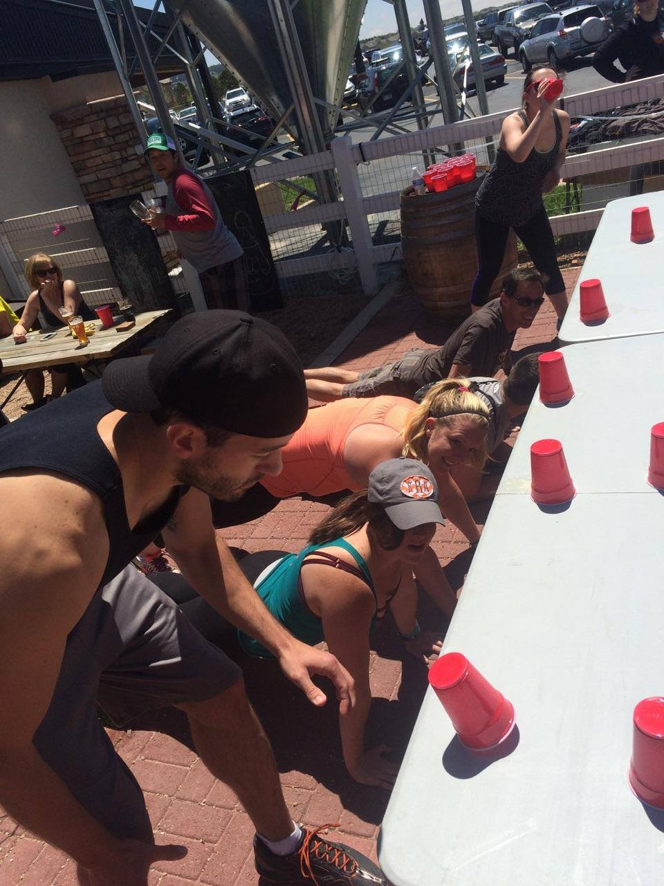Flanking= Flip cup + planking!
