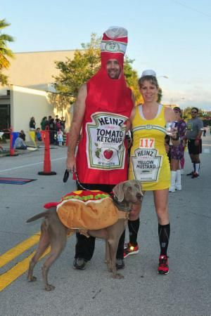 This brew run is dog friendly.  Bring your 4-legged buddy in costume too!