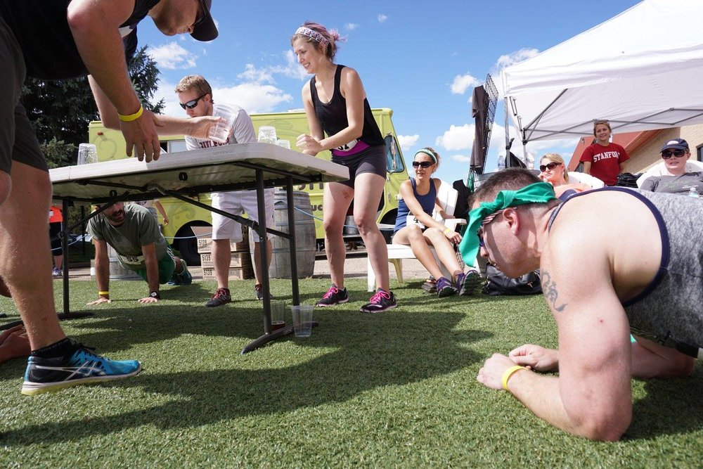 "Our beer Olympic game ""Flanking"": Cross between flip cup and planking!"