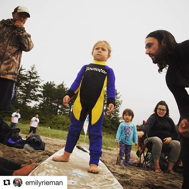 The grom is ready to shred.  #makahtribe #surfcamp #grom #gromlife #gladiator #makah #warmcurrent