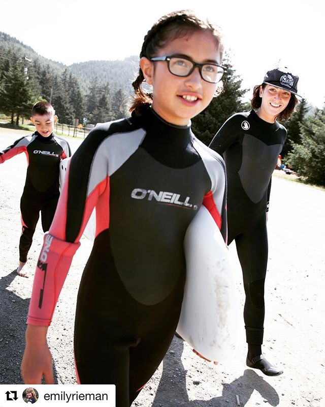 #surflikeagirl  #warmcurrent #surfcamp #makahtribe #oneill #oneillwetsuits #oneillgirls