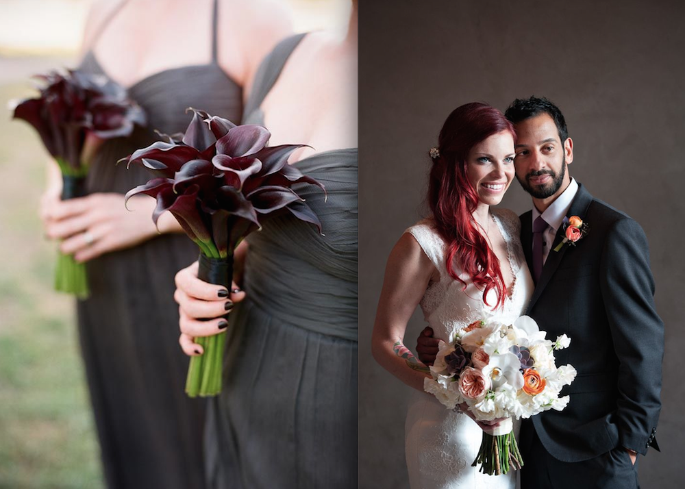 Photo on the left:  Q Weddings and photo on the right: Ashley Garmon Photography