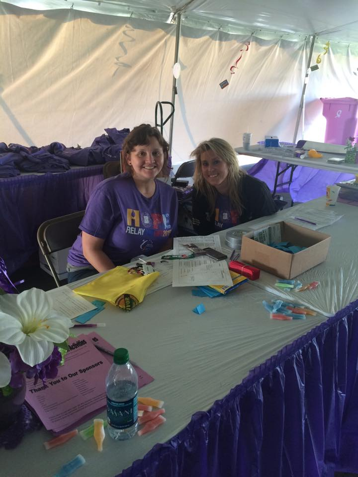 Cassandra and Nicki helping with the registration