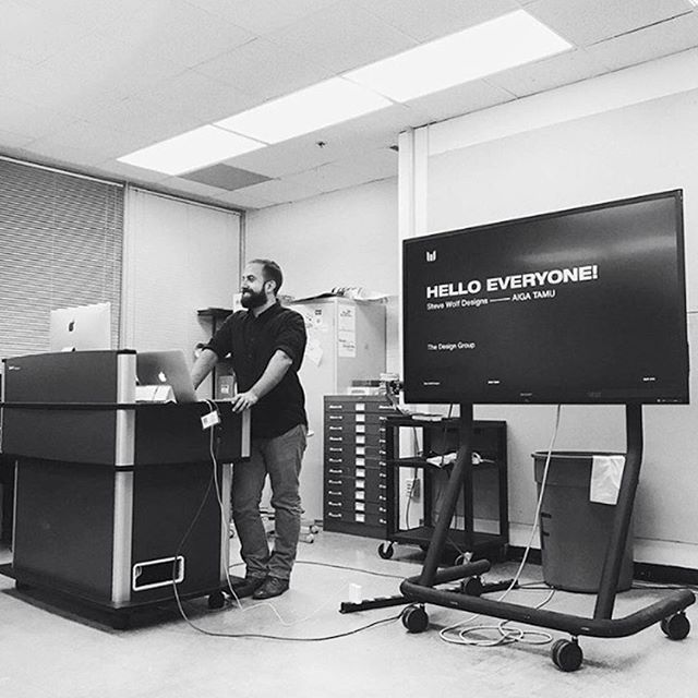 Throwback to last week when I spoke at Texas A&M to the @aigatamu group. We talked about logo design, branding, and life. Had an amazing time. Special thanks to @theamandajill and @nabilsunesara for the invitation! #tbt