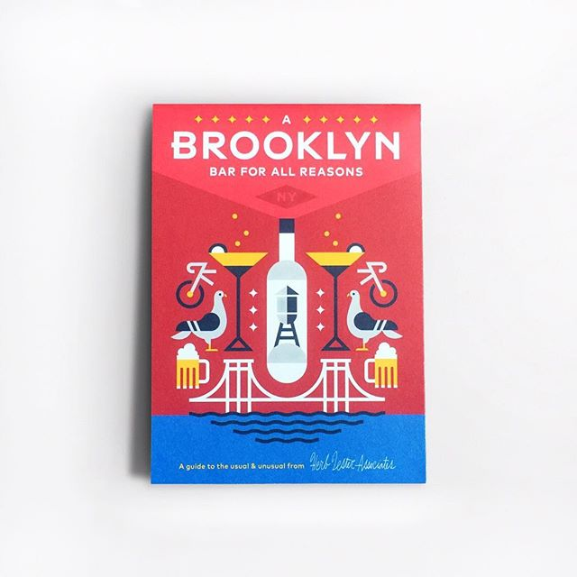 Shot of the Brooklyn Bars map designed for @herb_lester. Always a great time making maps for them. Available now on their website. #herblester #brooklyn