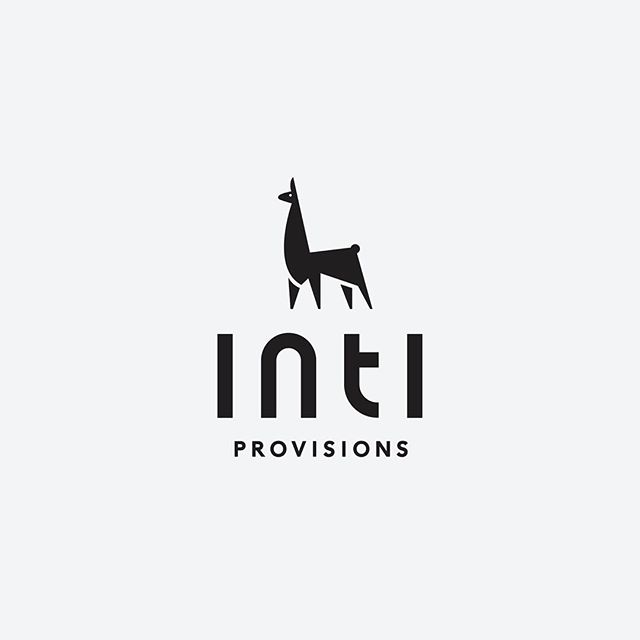 Logo for a new health food company here in Austin. @intiprovisions sources their main product from Peru which was the inspiration for the llama mark. Excited to show the packaging soon!