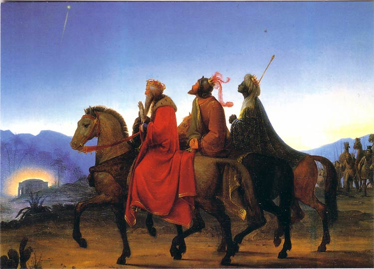 Epiphany - Epiphany and the arrival of the three Wise Men coincide for Episcopalians on January 6th.
