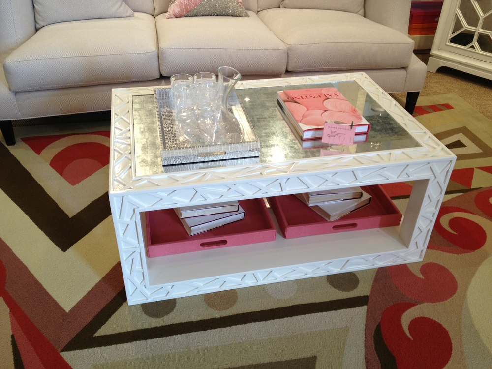 This fretwork detail makes this a standout table.