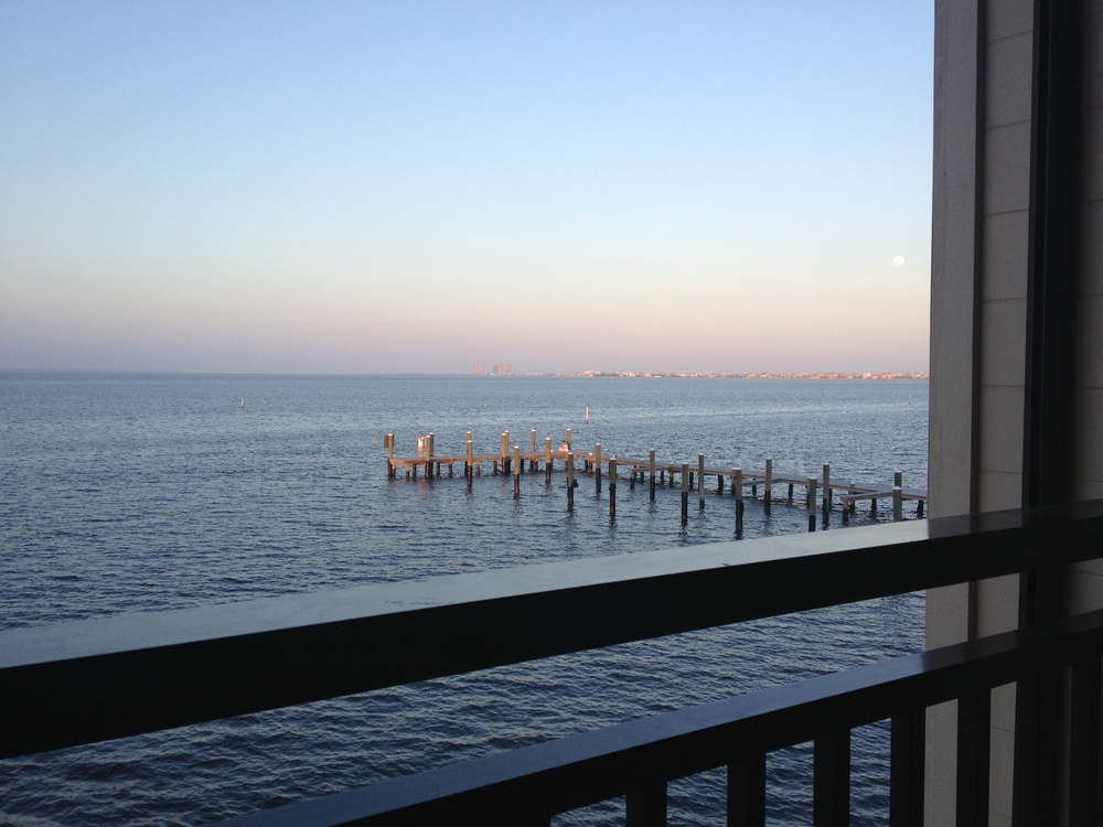 The view for our last meal in Pensacola. www.saranobledesigns.com