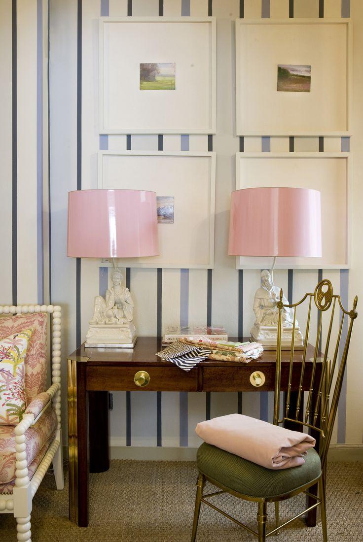 Pink Lampshades! Via Lindsay Souza
