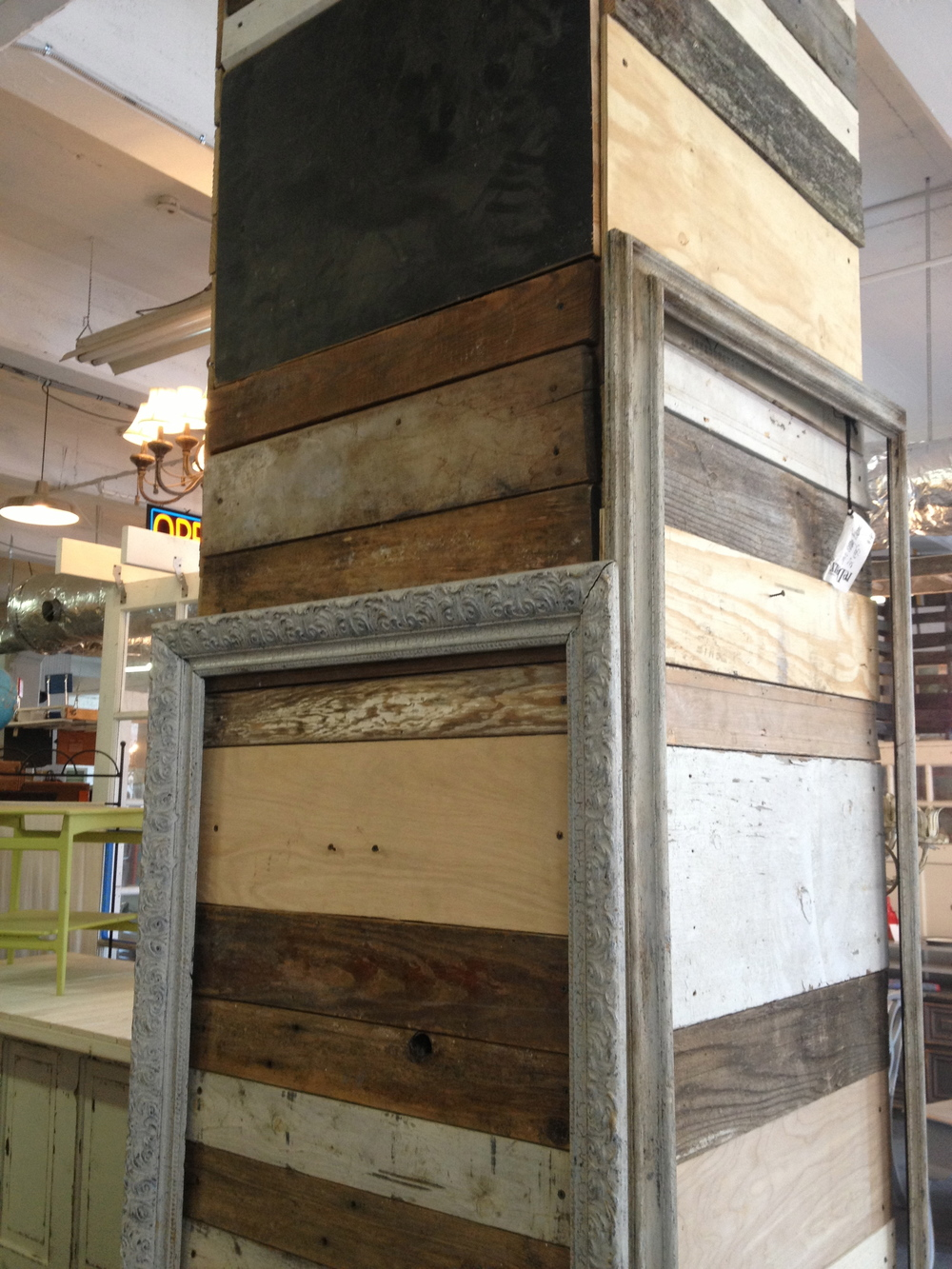 A little architecture inspiration.  The reclaimed wood wall was cool.  www.saranobledesigns.com