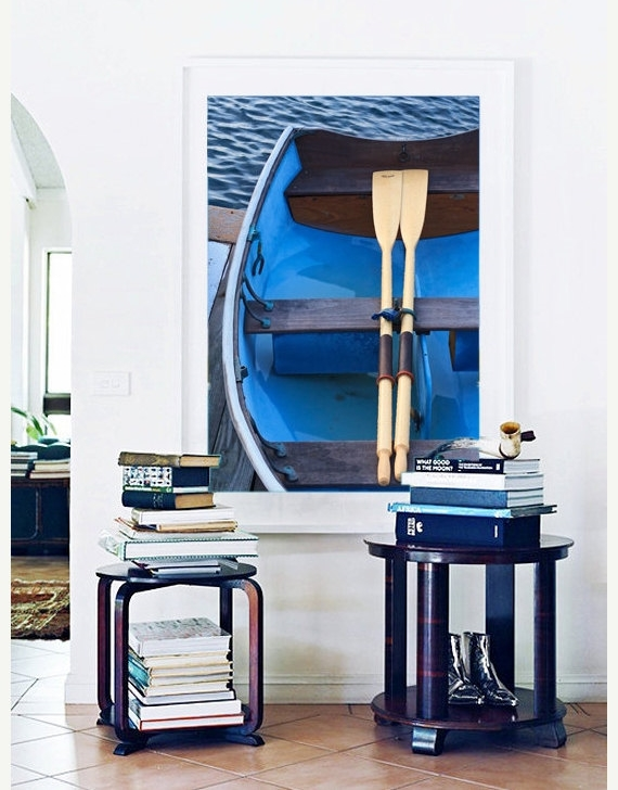 How fun is this artwork?  It can be purchased off of etsy.  Perfect for a lake house or any home!   https://www.etsy.com/listing/194513901/blue-wall-art-boat-photography-rowboat?ref=sr_gallery_28&ga_search_query=oar&ga_page=5&ga_search_type=all&ga_view_type=gallery