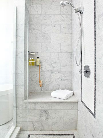 Love a classic marble bathroom. 'http://www.bhg.com/home-improvement/tile/projects-inspiration/bathroom-tile-designs/