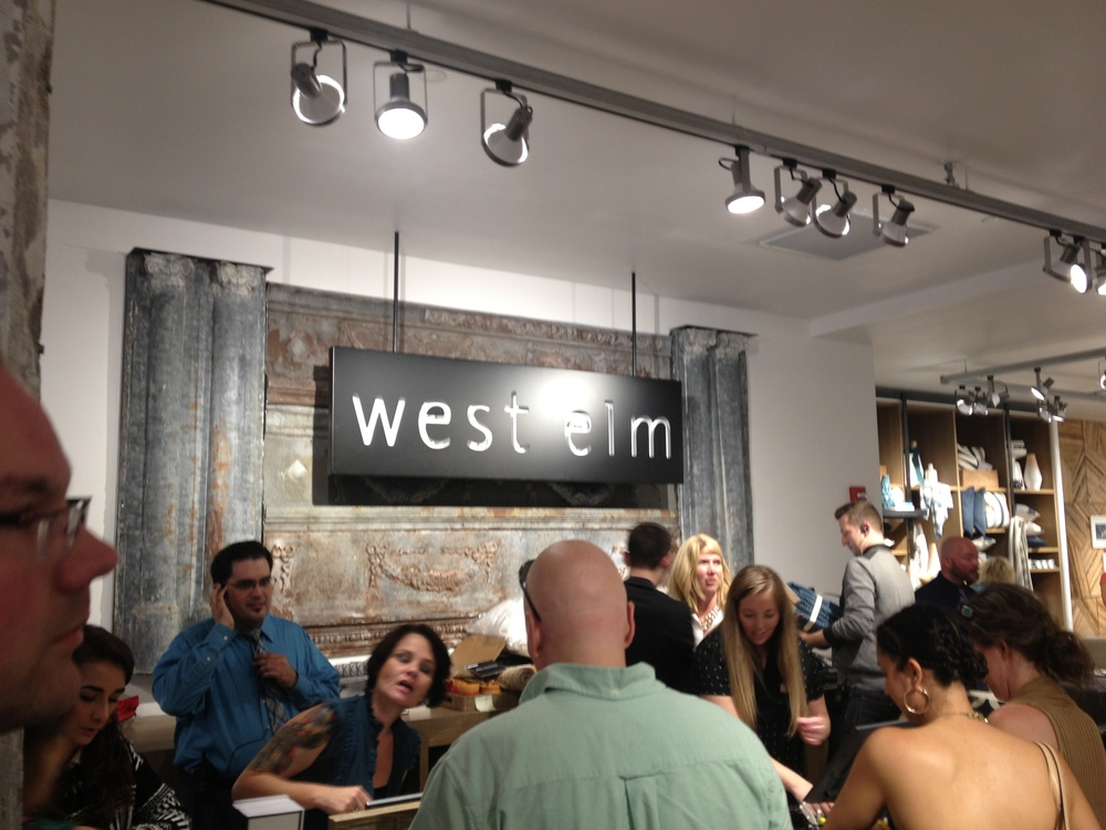 The new West Elm store in Kansas City was hopping Wednesday night as it opened it doors for an opening party.  www.saranobledesigns.com