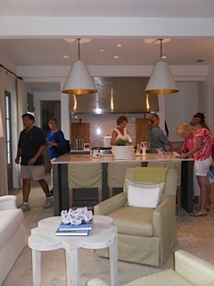The pendants, backsplash, range hood and conversation area! Love!