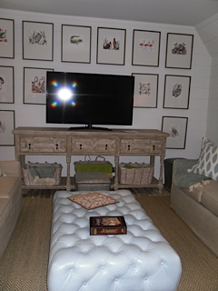 Game Room…I love the tufted ottoman! I need to replicate that for sure!