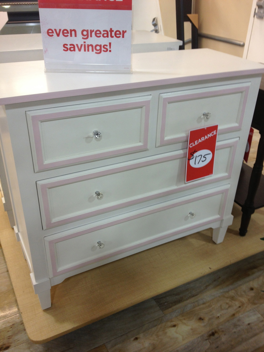 Anyone doing a little girls' room?  There was actually a pair of these adorable dresser.