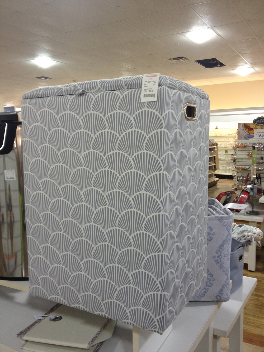 Not all finds were big pieces.  This laundry hamper had a great design and reminded of the higher end Serena and Lily product line.