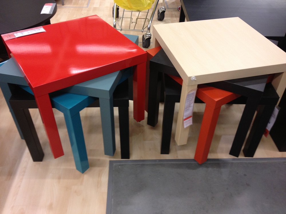 These cute little side tables are crazy cheap.  I'm pretty confident they were marked for 19.99