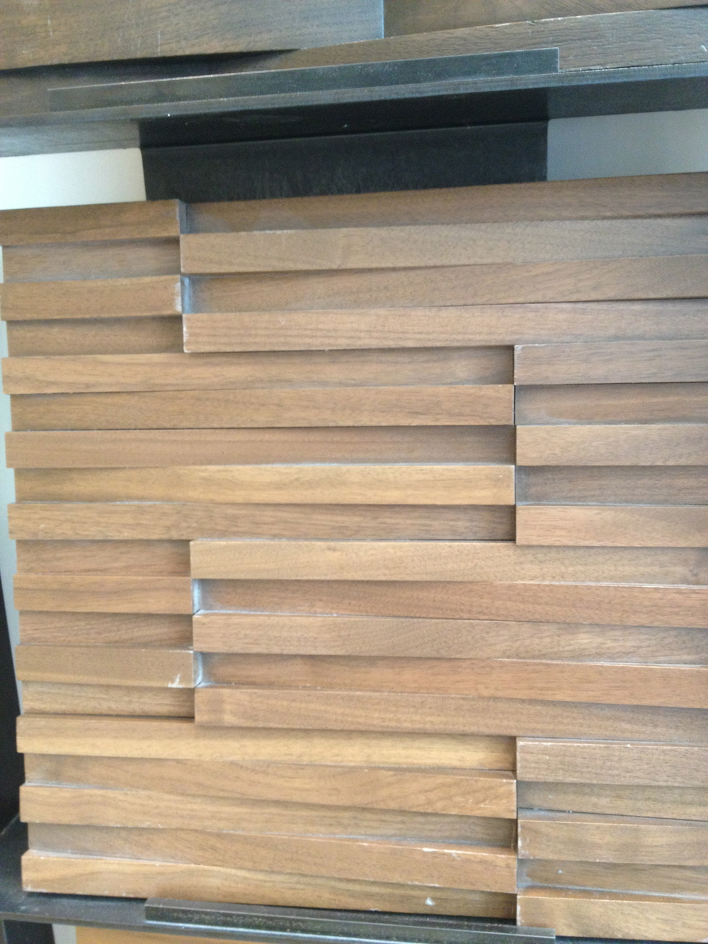 I'm dying for the perfect project to use these wood tiles.  Walker Zanger has a fun one too.  www.saranobledesigns.com