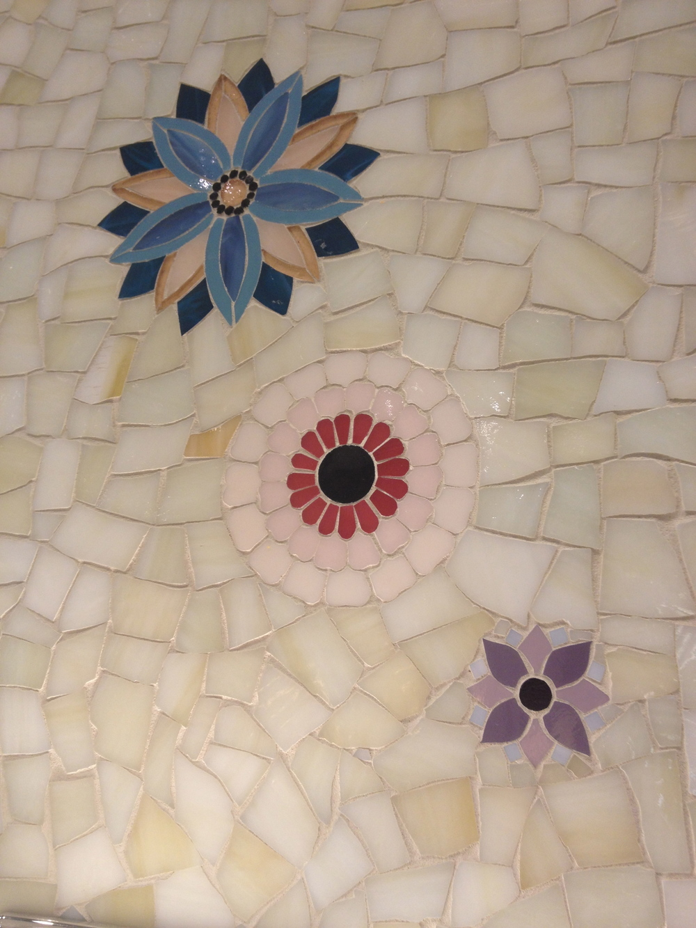 How cool is this glass mosaic?