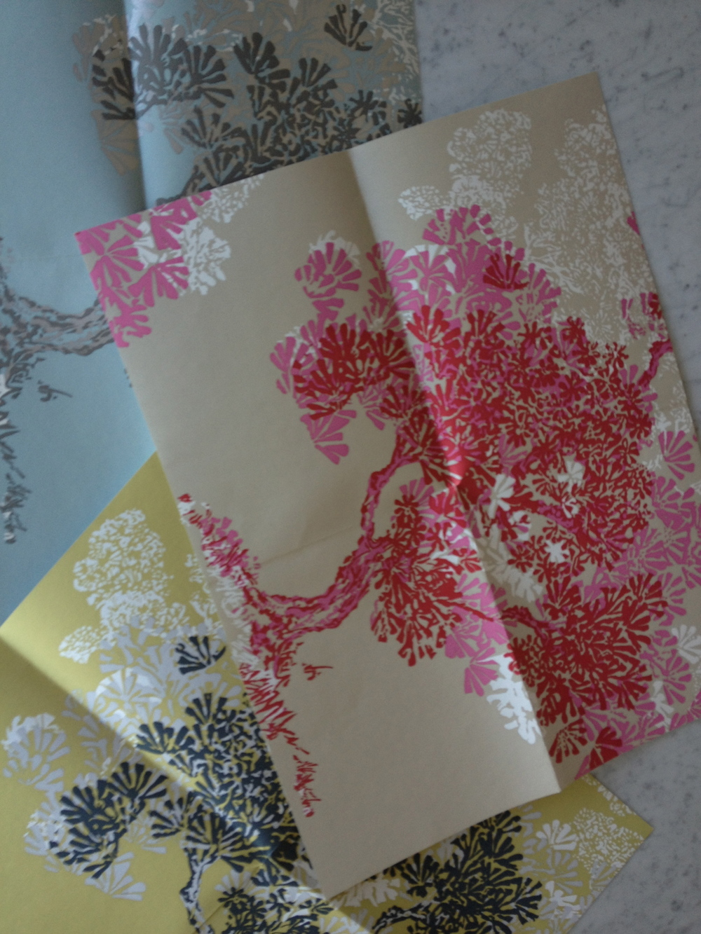 Romo Wallpaper in red and pink.  Who I can talk into using this?  It's going to be fabulous!  www.saranobledesigns.com