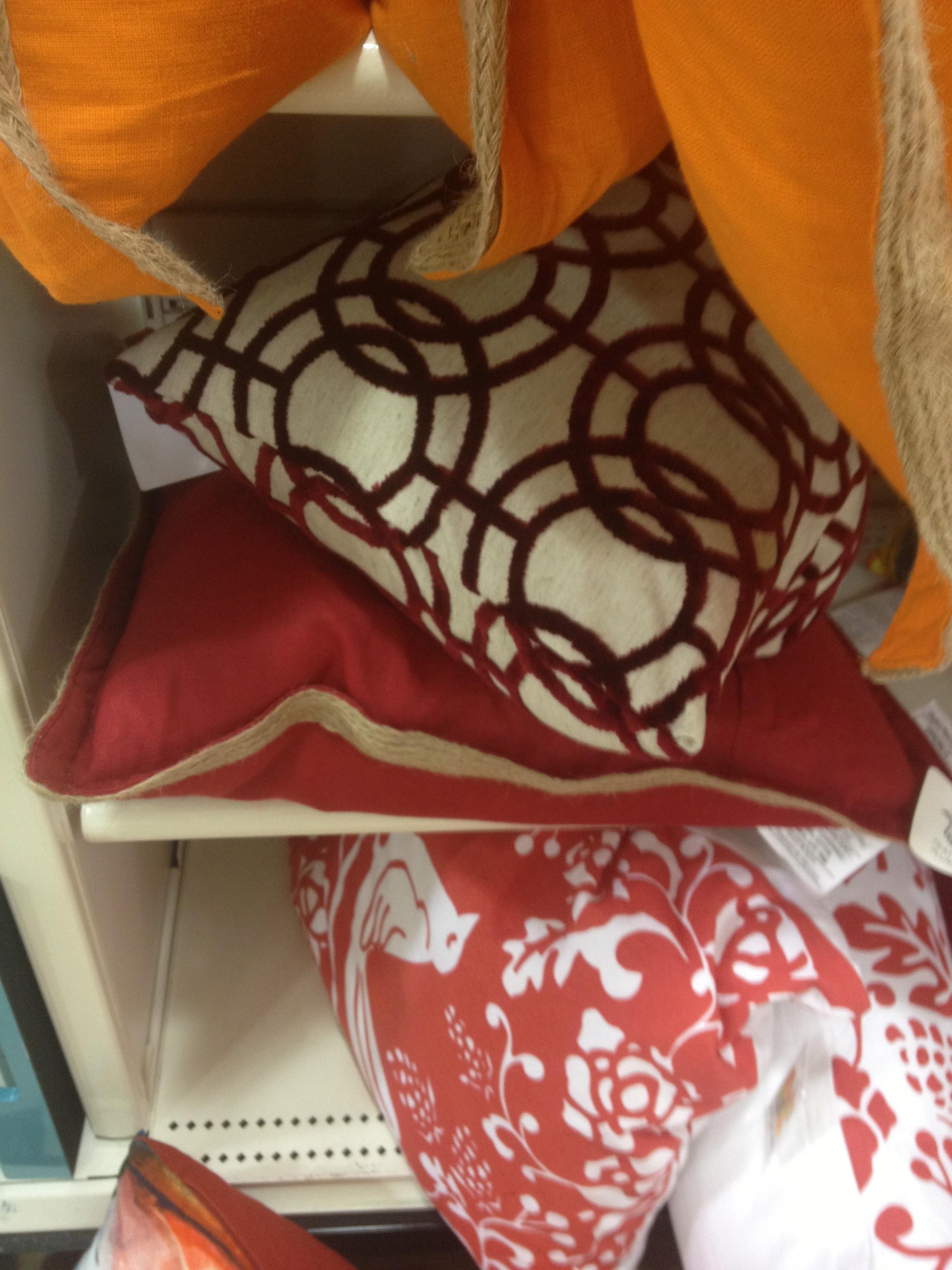 Home Goods pillows.