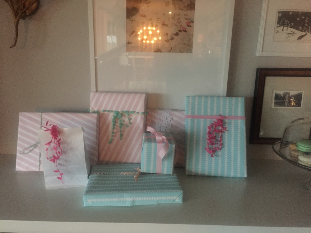 pretty pastel packages.