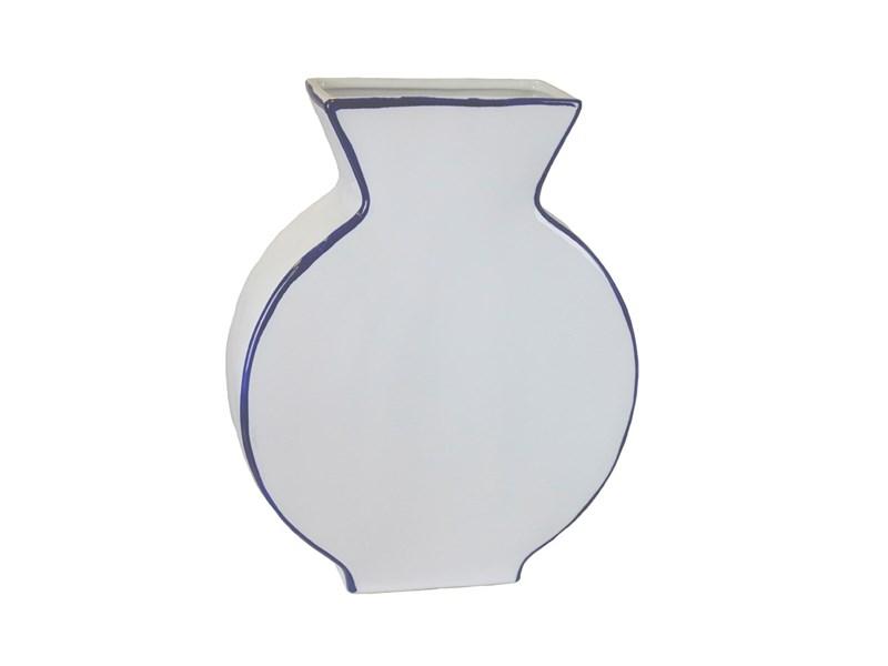 Ceramic Flat Urn Vase Noble Designs