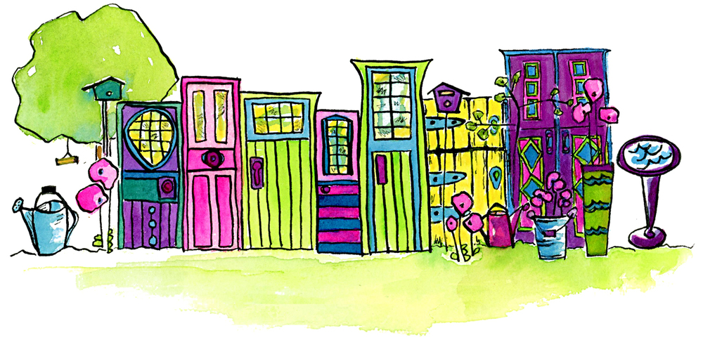 Illustration by Kathie McIlvride for My Painted Door.
