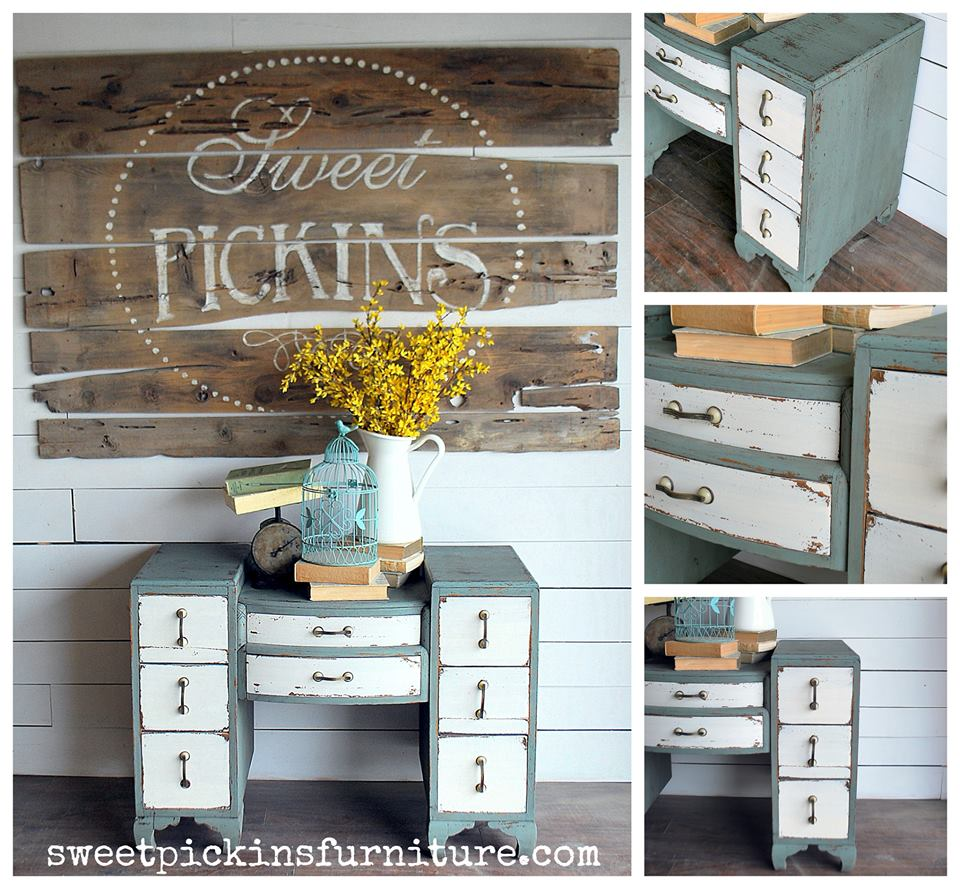 Painted by Sausha from Sweet Pickins Furniture - using Sweet Pickins milk paint, of course
