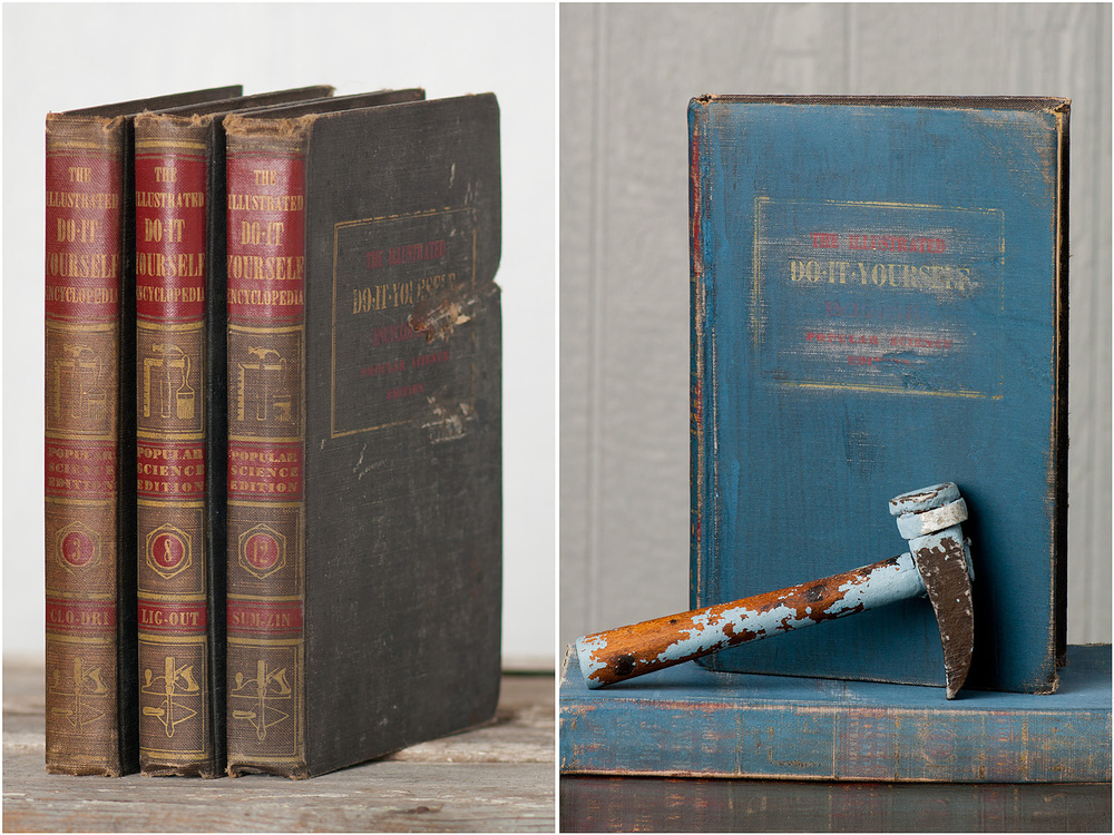 Milk paint tutorial from My Painted Door (.com) - painting on books - before and after