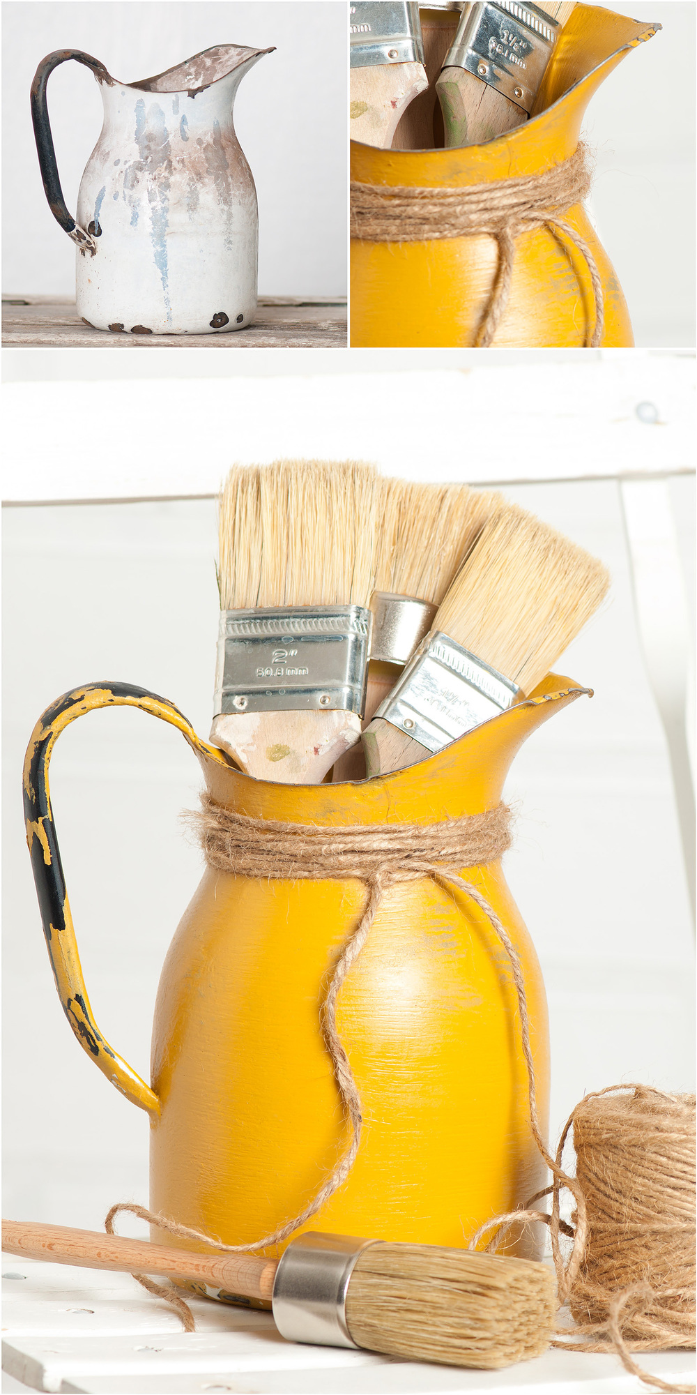 Milk paint tutorial from My Painted Door (.com) - painting on metal