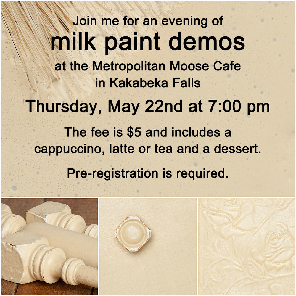 Milk paint demos at My Painted Door