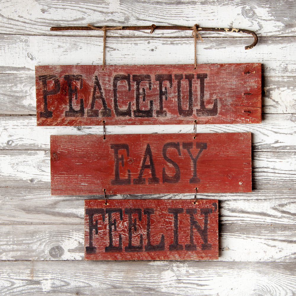 Rustic signs painted with milk paint - via My Painted Door (.com)