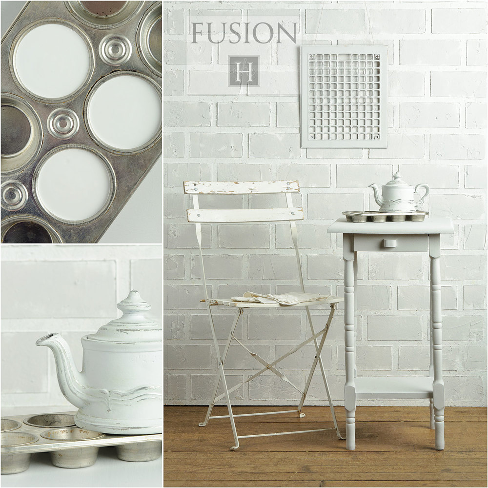 Fusion paint in lamp white - via My Painted Door (.com)