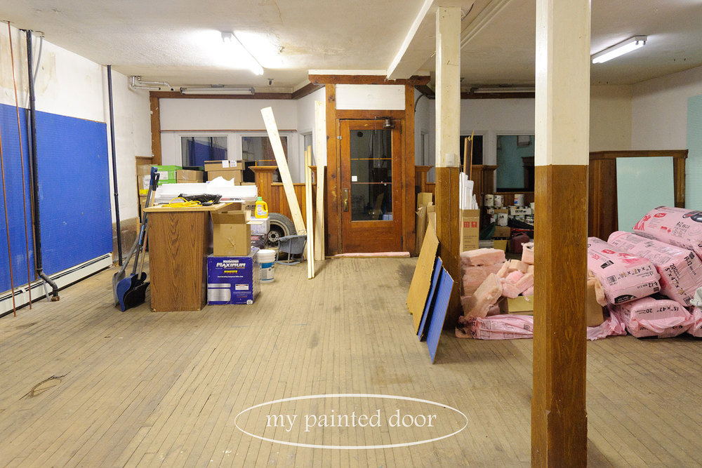 my shop renovations via My Painted Door (.com)