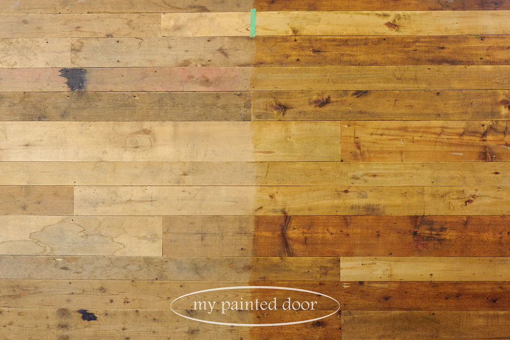 using hemp oil on wood walls via My Painted Door (.com)