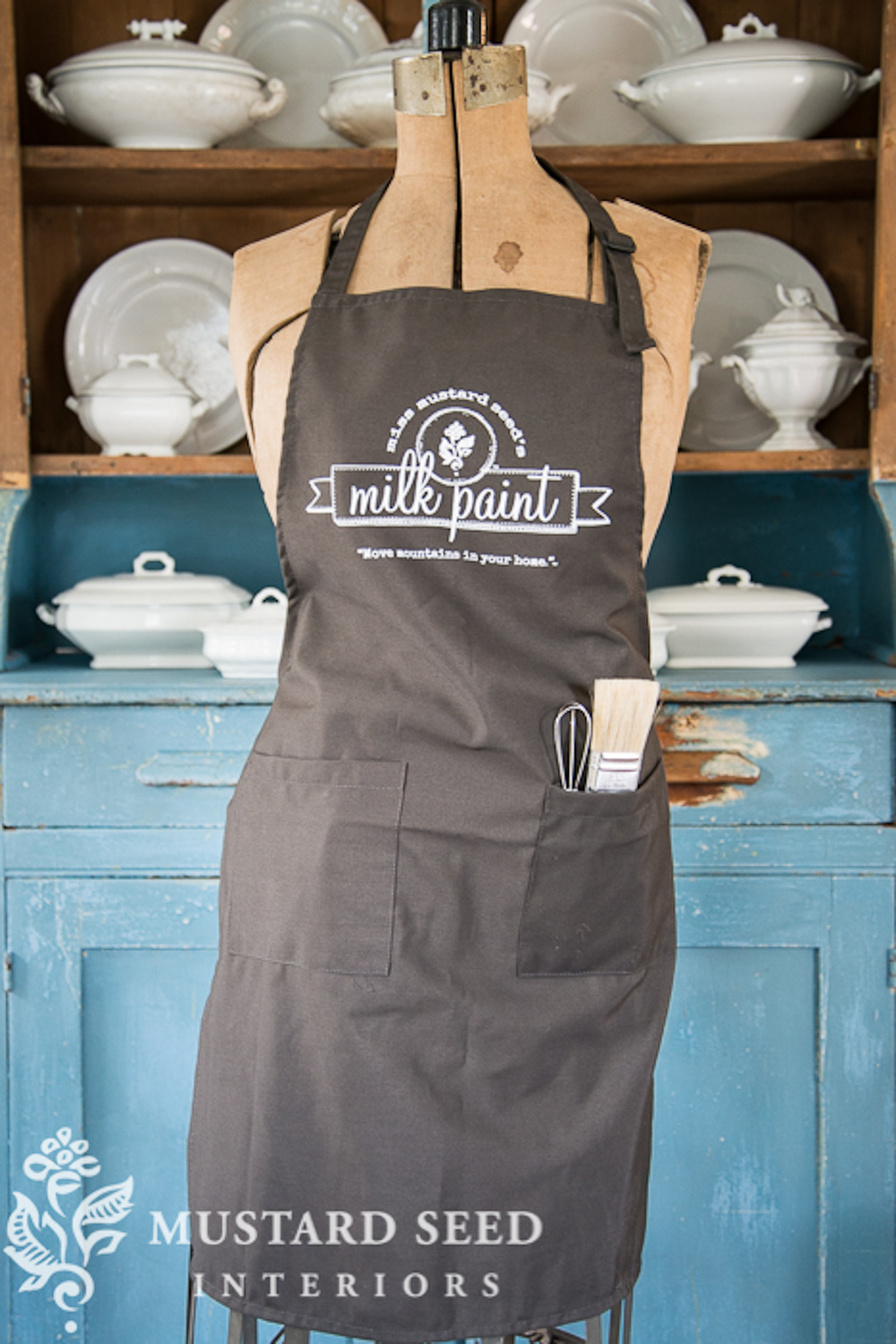Miss Mustard Seed's apron - available at My Painted Door (.com)