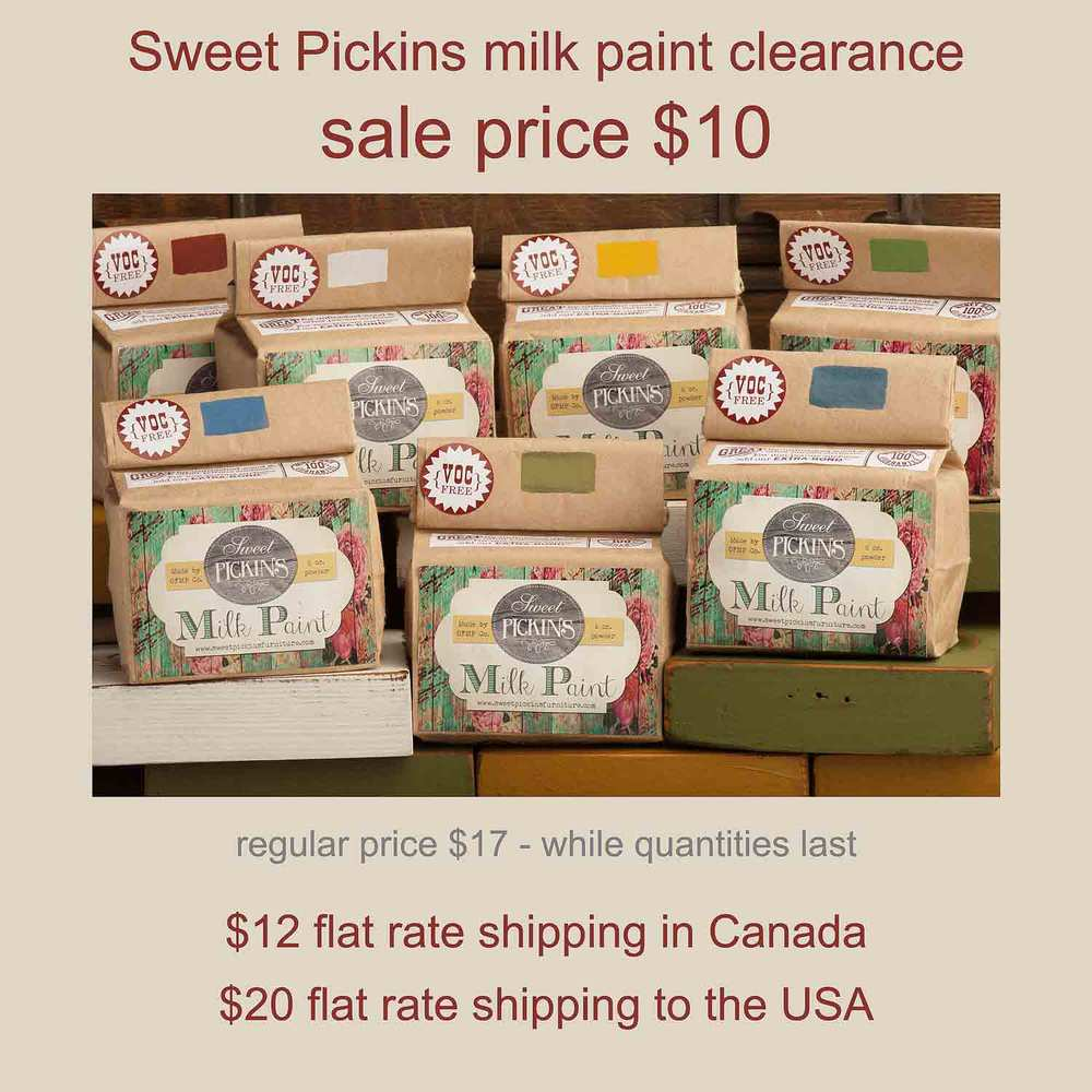 Sweet Pickins milk paint clearance - via My Painted Door (.com)