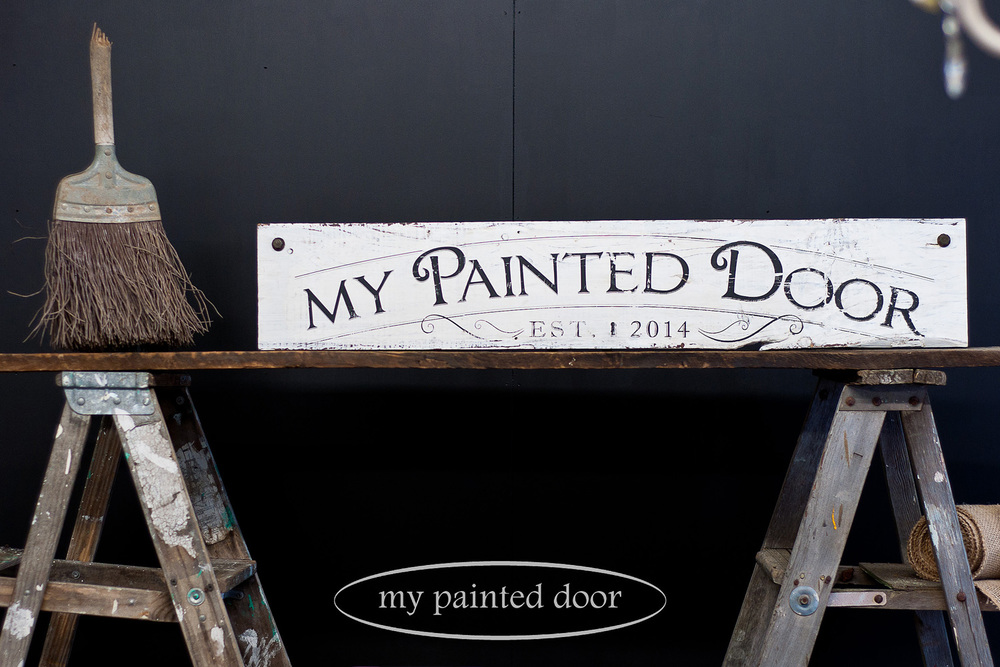 sign by Wendy Aaltomaa using Fusion transfer gel - via My Painted Door (.com)