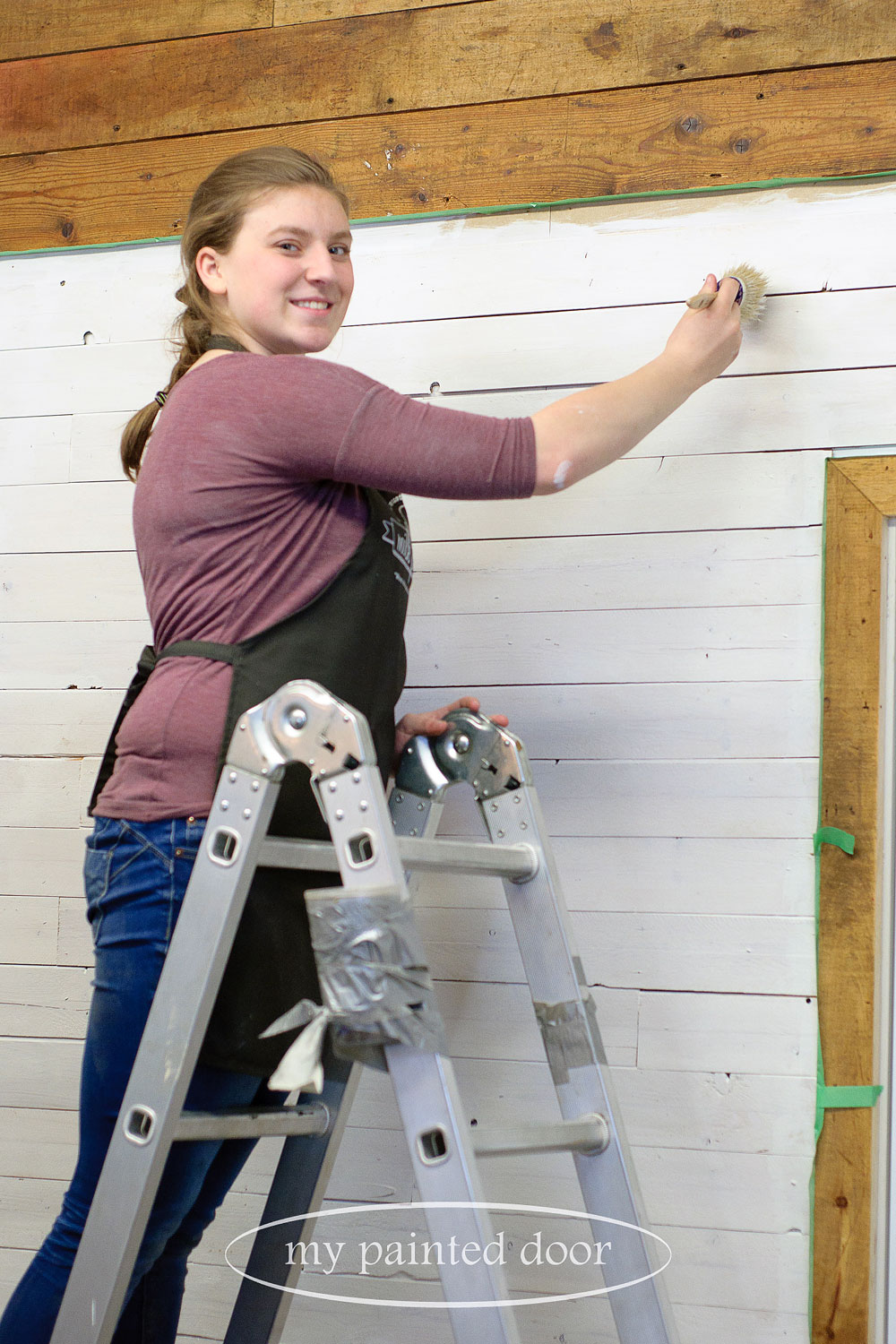 Painting plank walls with Fusion mineral paint - via My Painted Door (.com)