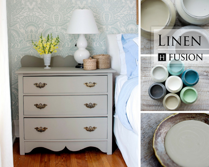 Fusion mineral paint in Linen from the Penney & Co. Collection - available at My Painted Door (.com)