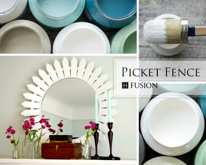 Fusion mineral paint in Picket Fence from   the Penney & Co. Collection - available at My Painted Door (.com)